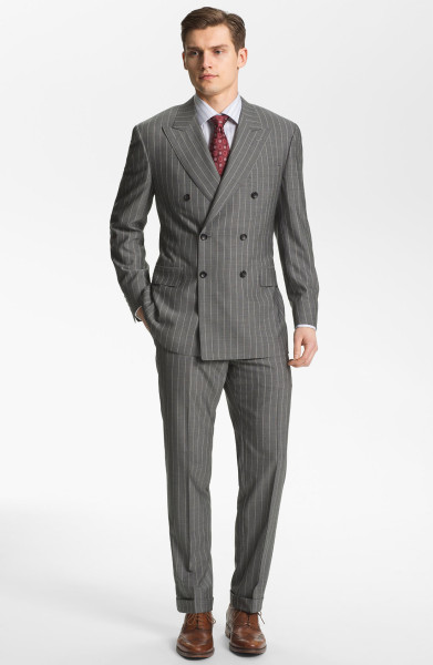 double breasted, six buttons (two buttons toclose) peak lapelscanali-light-grey-stripe-double-breasted-stripe-suit-product-2-9696041-395393619_large_flex